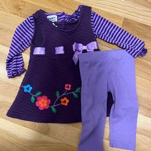 5 for $20!! 12 Month Baby Girl Dress/Pants Set